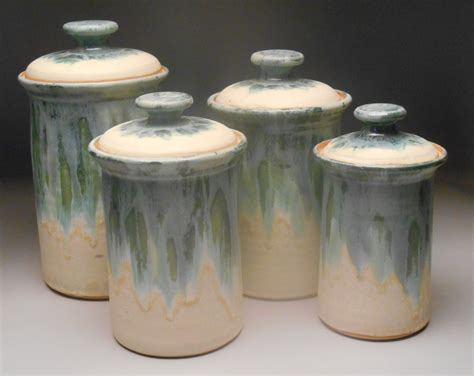 pottery canisters kitchen containers the clay works