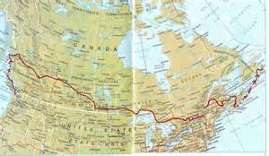 map my route canada the beginning of my trans canada odyssey