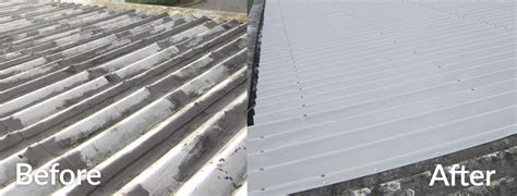 Roof Covering Asbestos Cement Roof Guttering Removal Sealing And