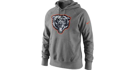 Sweater Nike Just Fly nike s chicago bears fly pack hoodie in gray for lyst