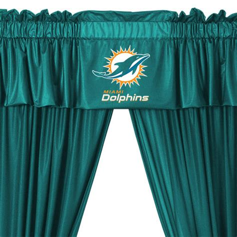 miami dolphins curtains nfl miami dolphins 5pc curtains and valance set