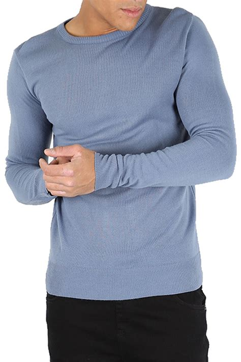 mens oversized knitted jumper mens crew neck sleeve ribbed cuff knitted winter