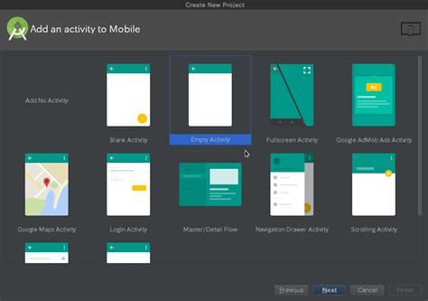 android studio get layout android studio projects templates stack overflow