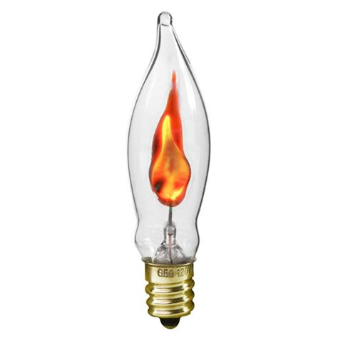 bulbrite 410303 3 watt flicker flame bulb