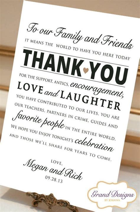 thank you letter after attending wedding wedding reception thank you card wedding by
