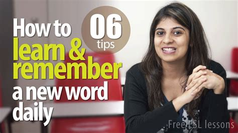 10 Words To Remember For A Healthy by 06 Tips To Learn And Remember A New Vocabulary