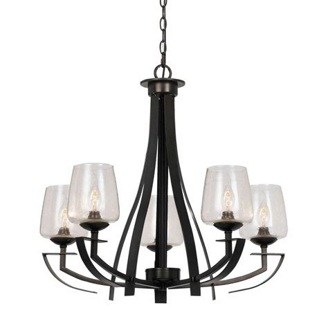 hardwired chandelier cal lighting 5 light organic black hardwire ceiling mount chandelier fx 3550 5 the home depot