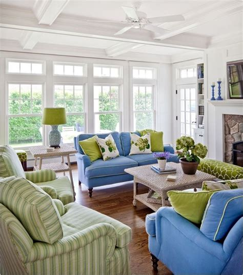 blue and green living rooms decorating with analogous color centsational girl