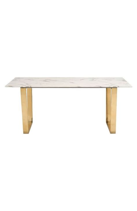 White Marble Dining Tables White Marble Gold Dining Table Modern Furniture Brickell Collection