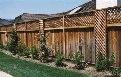 adding privacy to backyard adding lattice to top of fence woodworking projects plans