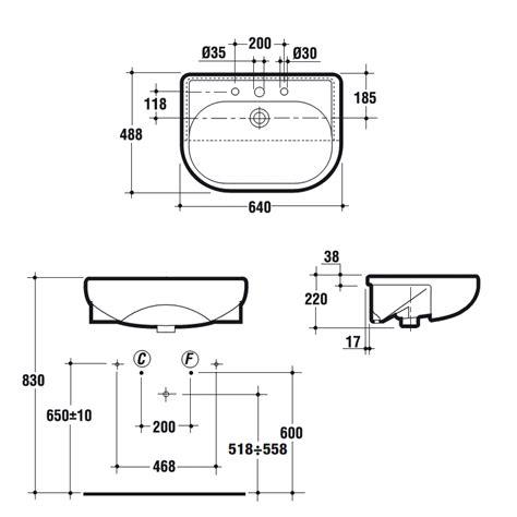 lavabi bagno ideal standard universale lavabo semincasso 3 fori 64x49 bianco europeo