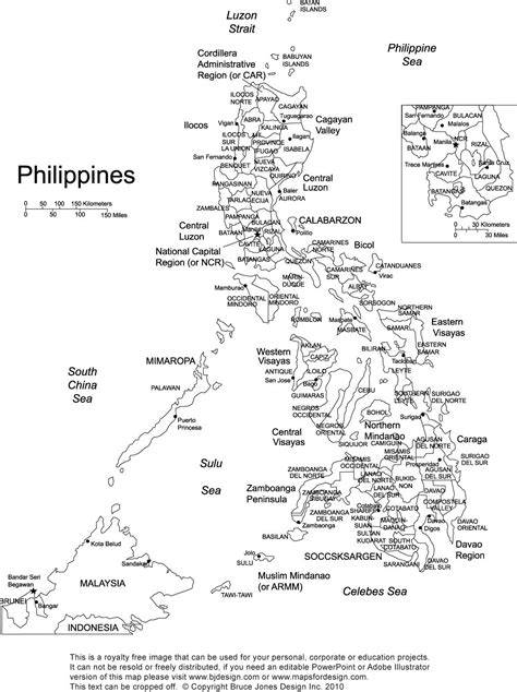 printable map philippines philippines printable blank map royalty free manila