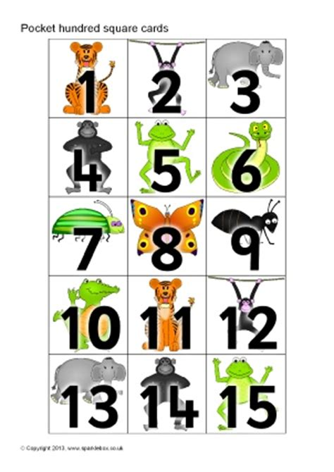 printable animal number cards jungle animals primary teaching resources and printables