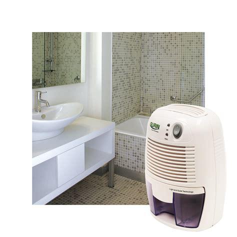 gurin dhmd 210 electric compact dehumidifier in bathroom
