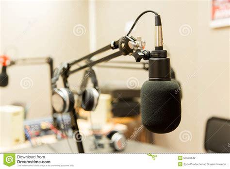 microphone  recording studio  radio station stock