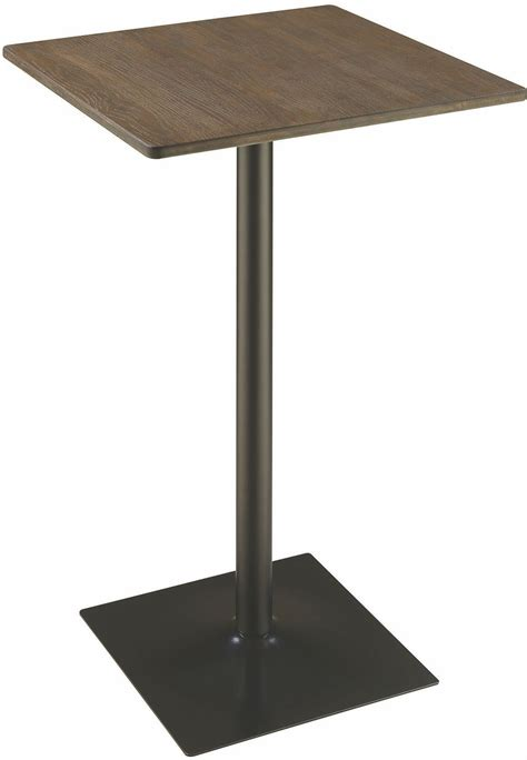 Black Bar Table Rec Room Elm And Matte Square Black Bar Table 100730 Coaster Furniture