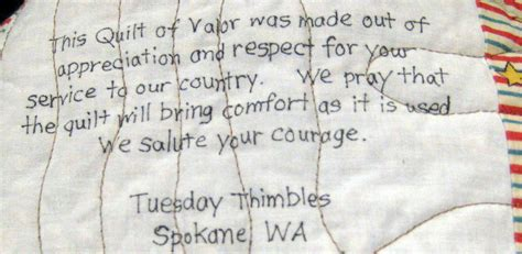 Quilt Of Valor Label by Quilts Of Valor Comfort Complex Wartime Emotions Gt U S