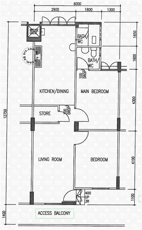 3 room flat floor plan jurong west 52 hdb details srx property