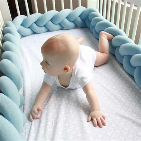bed bumpers for baby 5 etsy shops to order braided crib bumper right now