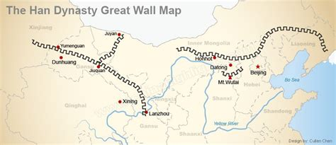 great world city map location the great wall of china in the han dynasty