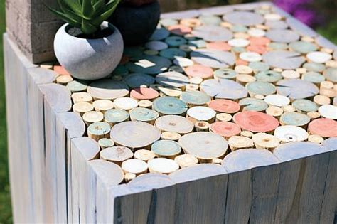 house style pastel stained side table project by