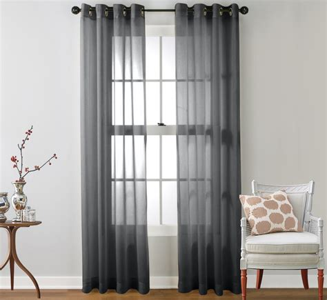 Window Sheer Curtains 2 Sheer Window Curtain Grommet Panels Ebay