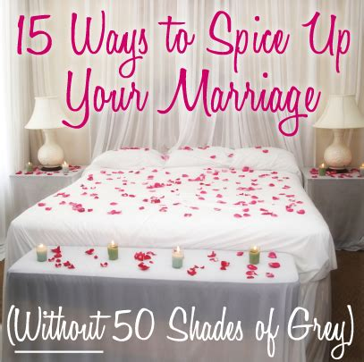 15 ways to spice up your marriage without 50 shades of grey