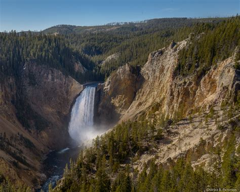 yellowstone lower falls waterfall in yellowstone yellowstone lower falls waterfall in yellowstone