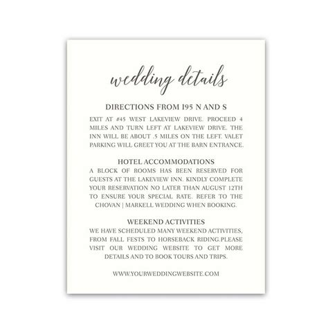 Wedding Invitation Insert Sles by Wording On Wedding Invitations For Hotel Acmodations