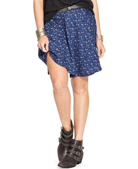 denim supply ralph floral print mini skirt in