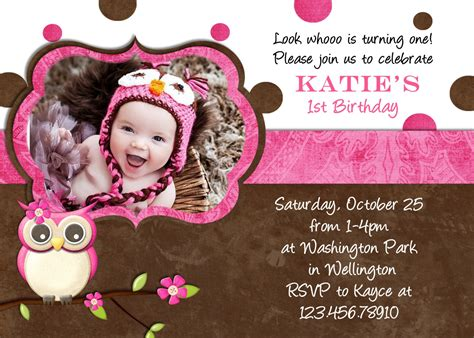 fall owl birthday invitation photo card by 3peasprints