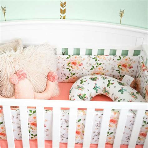 rose themed baby room floral crib bedding set lightbox moreview crib bedding