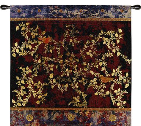 asian tapestry birds tapestry wall hanging ethnic motifs