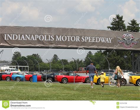 Rev It Up At Indianapolis Motor Speedway by Colorful Community Bulletin Board Newark Editorial Photo