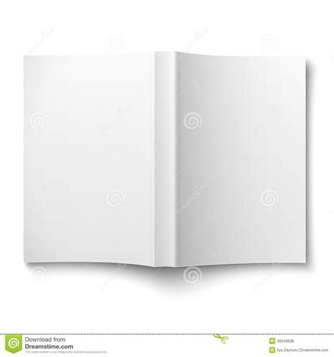 blank softcover book template spread out on white stock