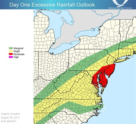 heavy rain severe storms expected in mid atlantic