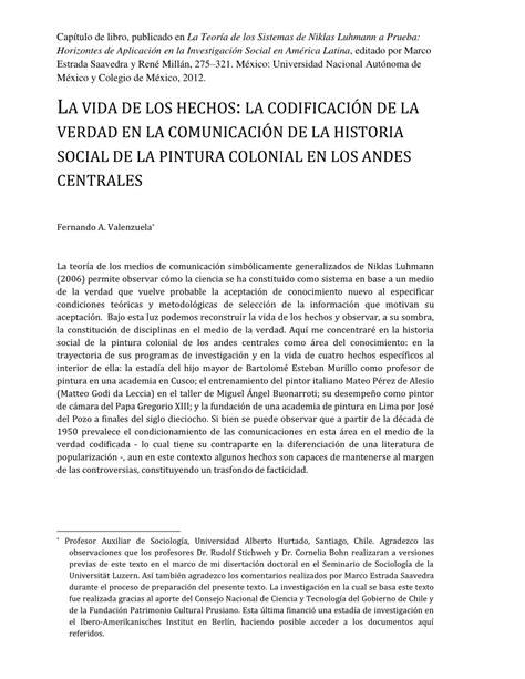 (PDF) La vida de los hechos: historia social de la pintura