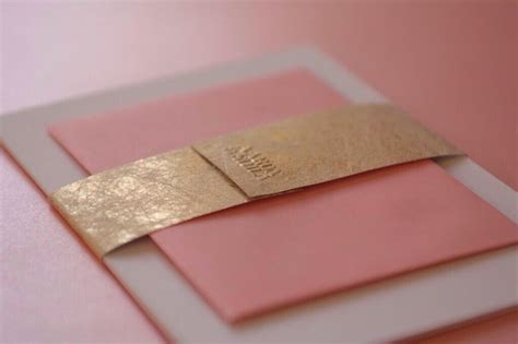 gold embossed wedding invitations uk wedding invitation gold twist embossed belly band