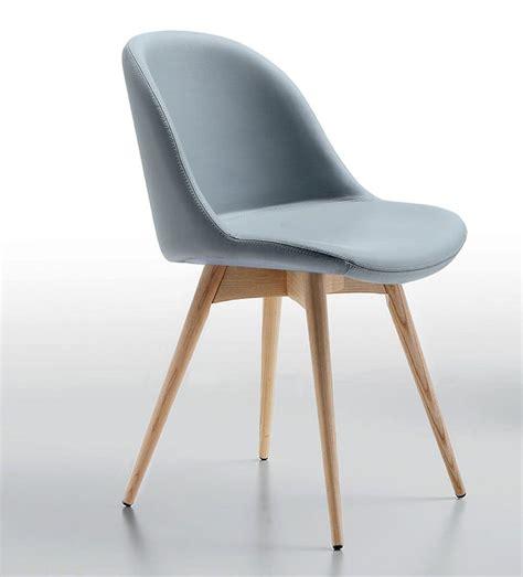sedie imbottite design sedia in legno seduta rivestita in pelle o tessuto