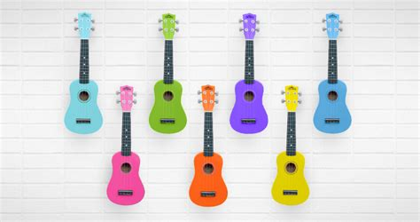 colorful ukulele bright colorful ukuleles for beginners tanara guitars