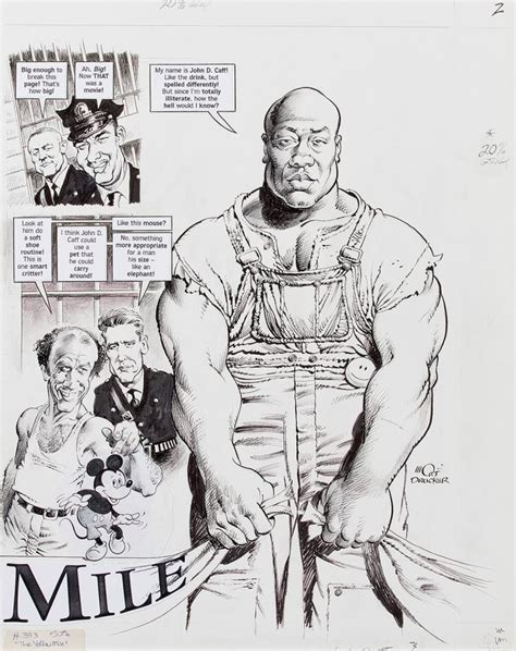 Mort H Drawings by Mort Drucker Signed Original From The Green Mile