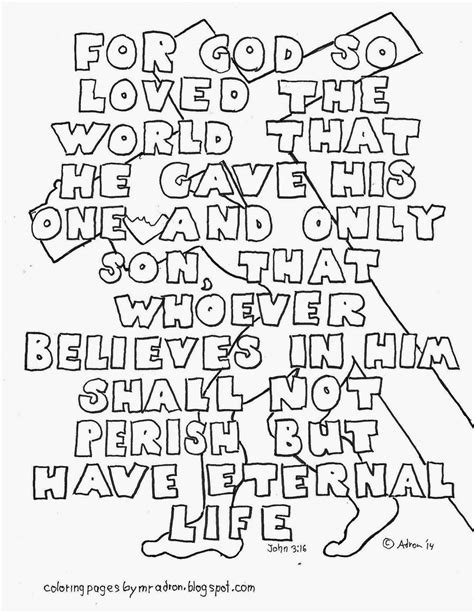 coloring page for john 3 16 8 best images of printable coloring page with john 3 16