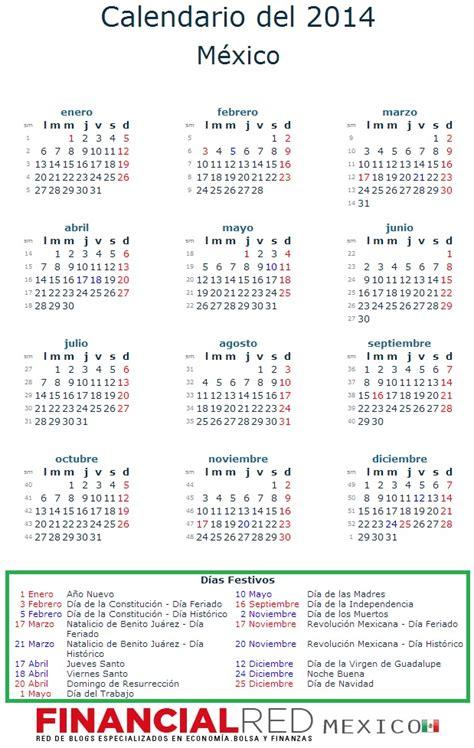 calendario laboral mexico 2014 que feriados y festivos