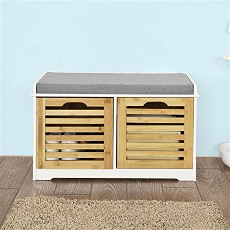shoe bench with drawers 10 off sobuy storage bench with 2 drawers seat cushion