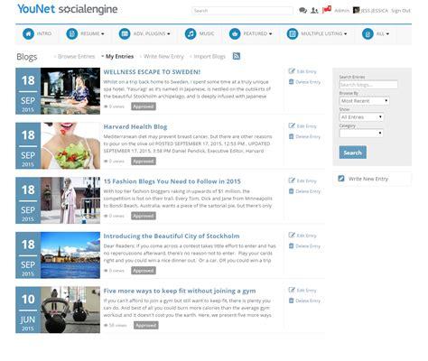 layout blog entry advanced blog module plugin custom design for