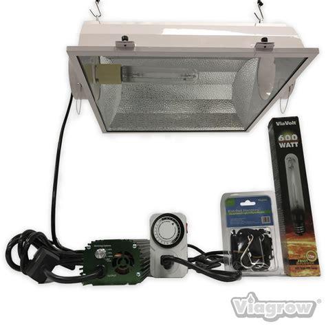 600 Watt Grow Light by Viavolt 600 Watt Hps White Grow Light System With Timer