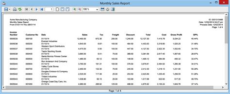 reports sles monthly sales report