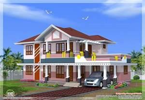 kerala sloped roof home design house design plans