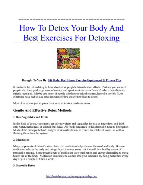 How To Detox Your Whole At Home by How To Cleanse And Detox Your The Easy Way