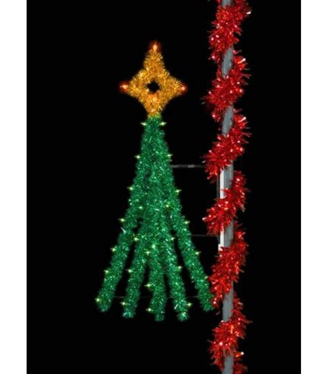 6 festive tree pole display all american christmas co